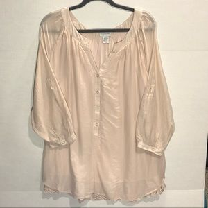 Soft Surroundings Light Pink Tunic Top - XL